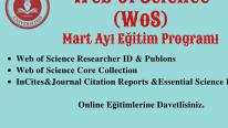 WoSG: Mart ayı eğitim programı
